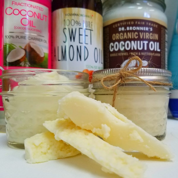 @homesteadwishing's cover photo for 'DIY Whipped Shea Butter Moisturizer - Homemade Body Butter'