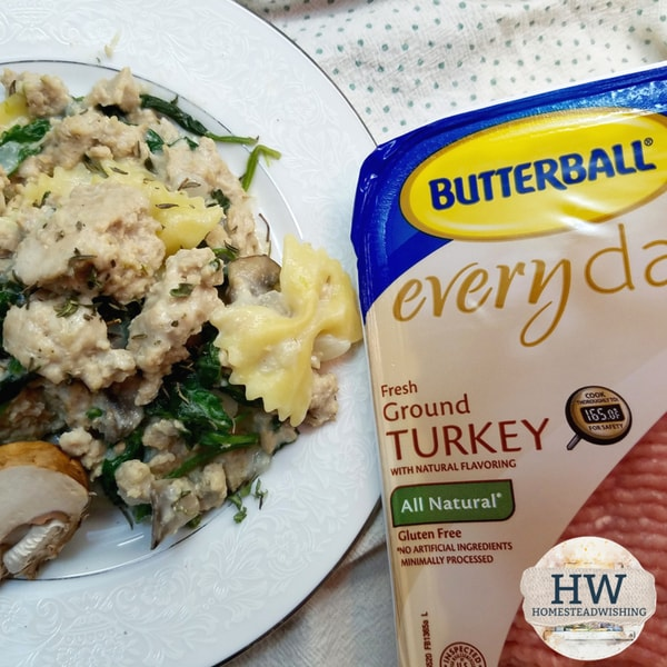 @homesteadwishing's cover photo for 'One Pot Turkey and Pasta Recipe - Quick & Easy Weeknight Dinner Recipe'