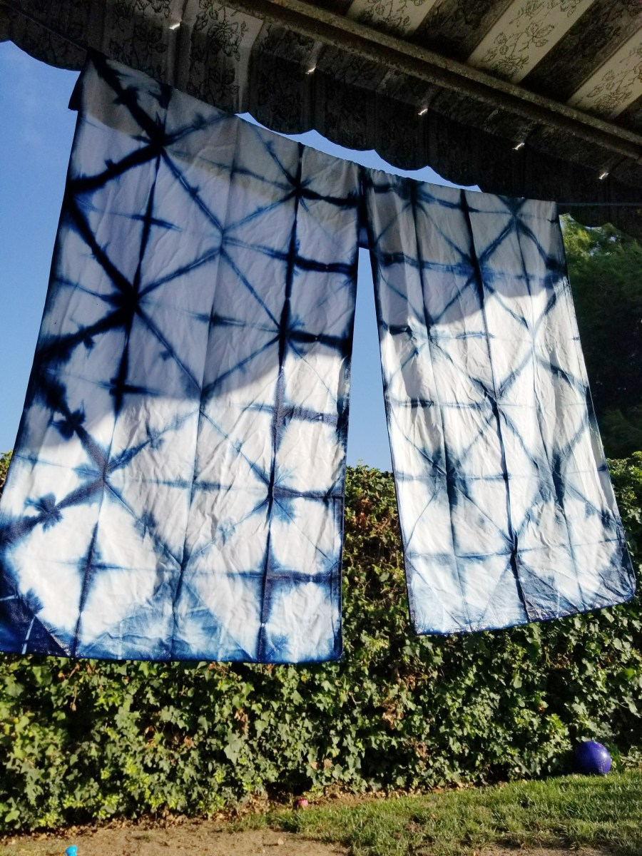 @buildingupashes's cover photo for 'Hand Dyed Navy Shibori'