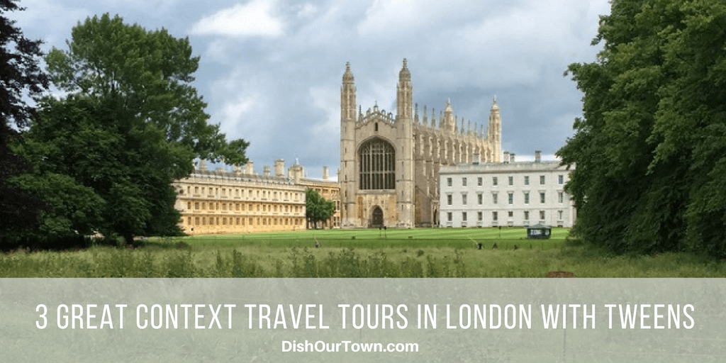 @dishourtown's cover photo for '3 Great Context Travel Tours to take with tweens in London - Dish Our Town'