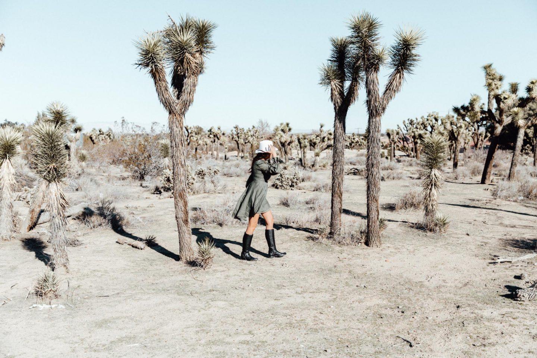 @tekwani's cover photo for 'Joshua Tree Desert Vibes with Frye - Nina Tekwani'