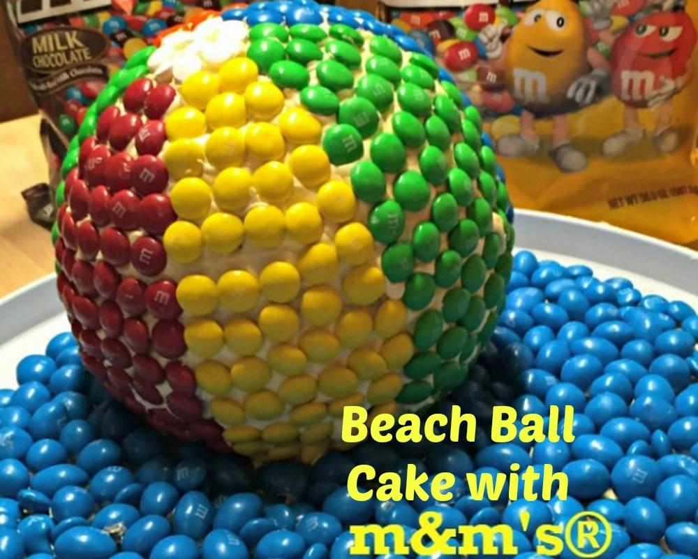 @bullocksbuzz's cover photo for 'M&M's® Beach Ball Cake'