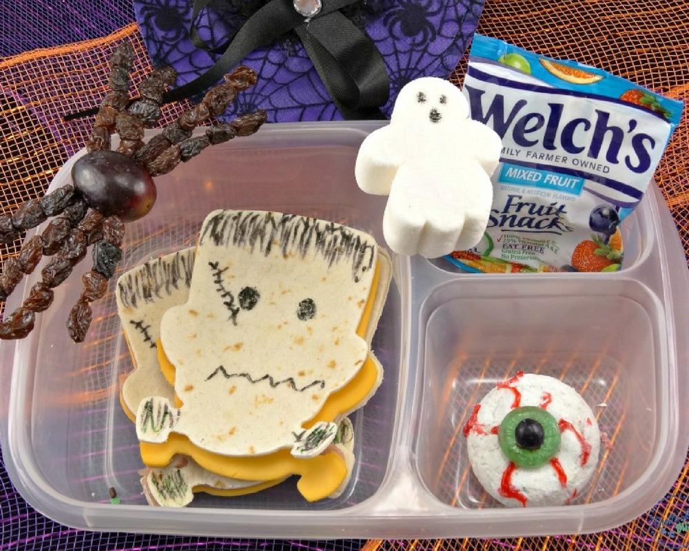 @bullocksbuzz's cover photo for 'Halloween Lunch Box - Frankenstein Halloween Lunch for Kids'