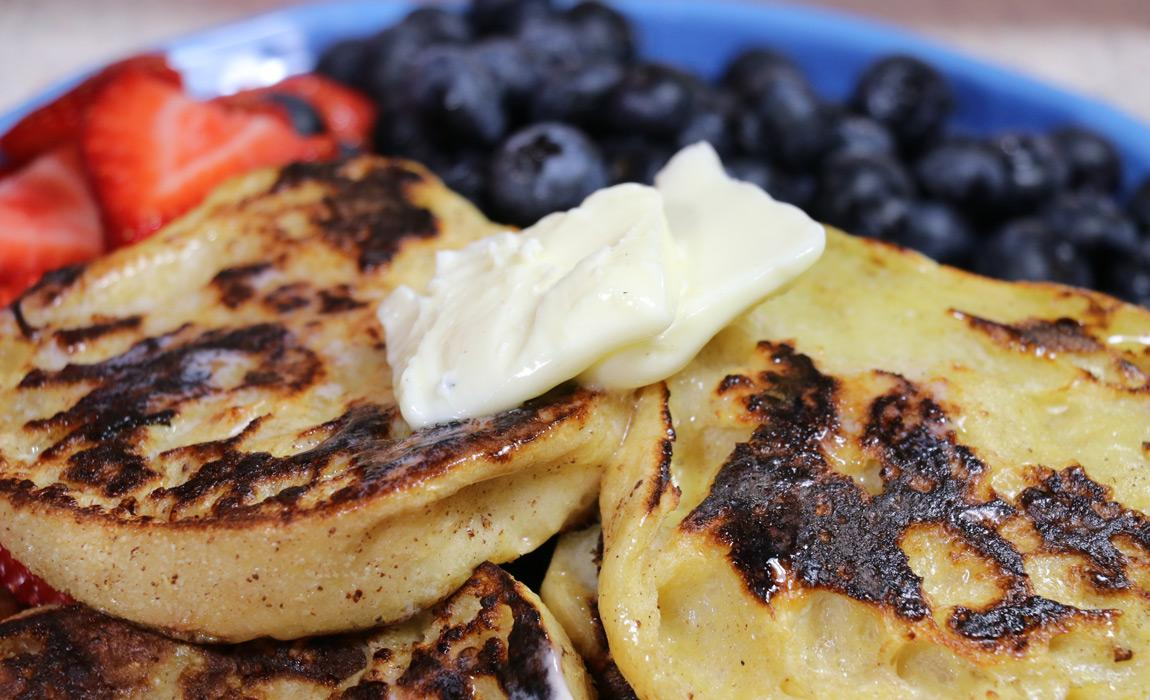 @mantripping's cover photo for 'Cinnamon Sugar English Muffins French Toast Recipe'