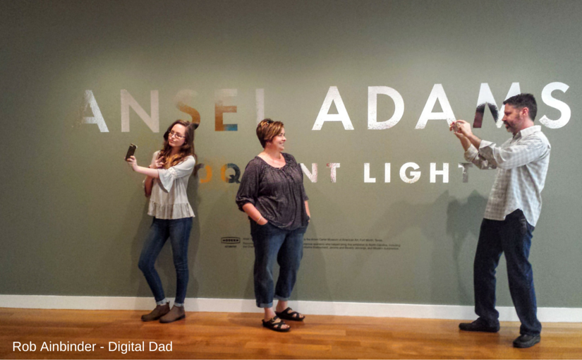 "@robainbinder's cover photo for 'Ansel Adams ""Eloquent Light"" at Reynolda Illuminates Adults & Teens Alike - Rob Ainbinder - Digital Dad'"