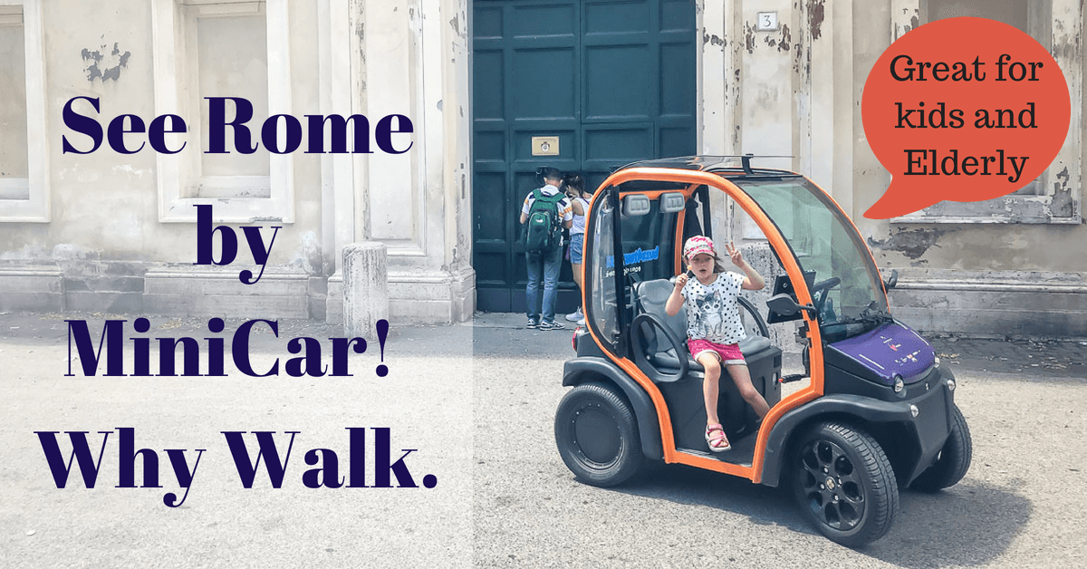 @findthemapandgo's cover photo for 'Tour Rome in a MiniCar and Park Free'