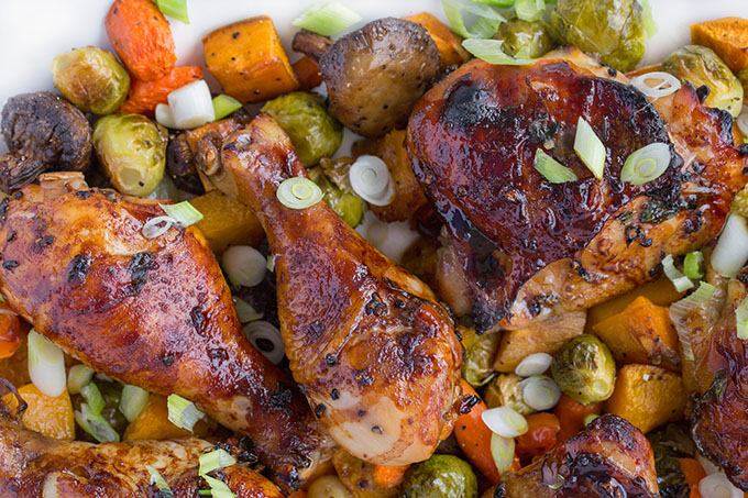 @askchefdennis's cover photo for 'Chai Marinated Chicken with Roasted Vegetables'