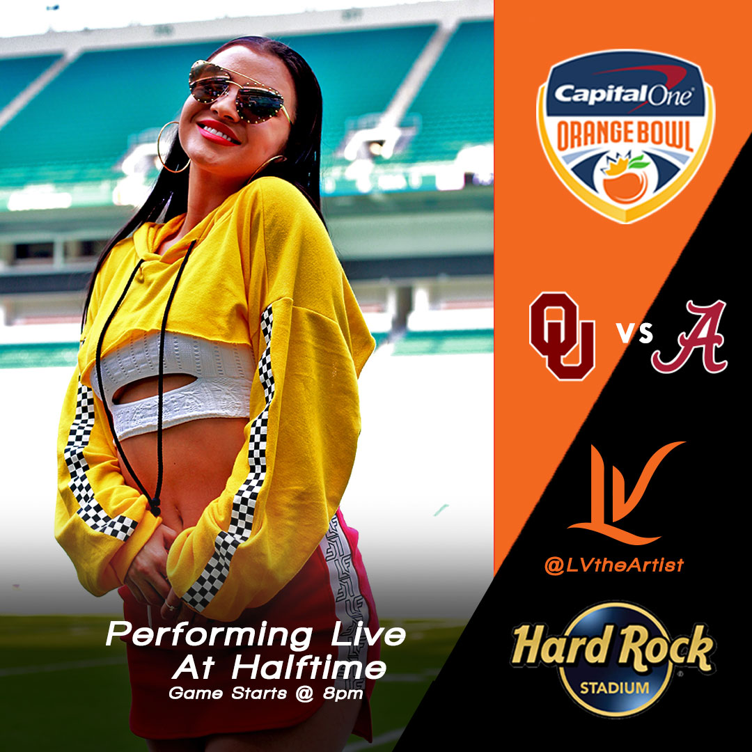 @lvtheartist's cover photo for 'Who Was That Girl Performing At The Orange Bowl!?'