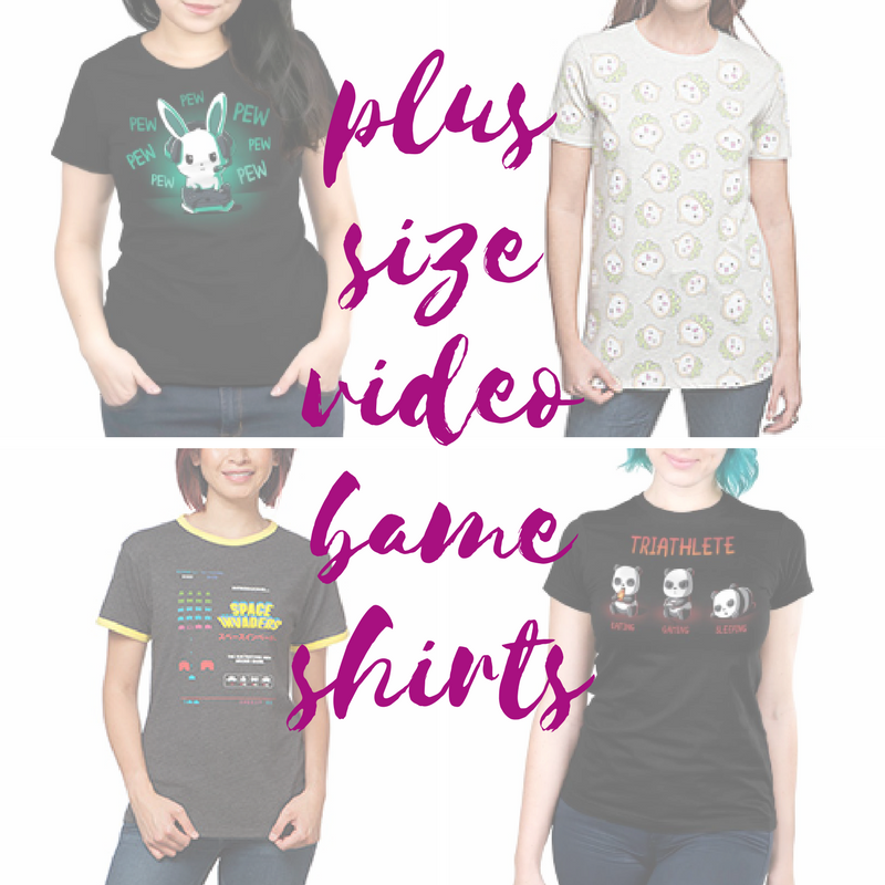 @plussizenerd's cover photo for 'Video Game Shirts for Plus Size Women IHO 'Ready Player One' - Plus Size Nerd'