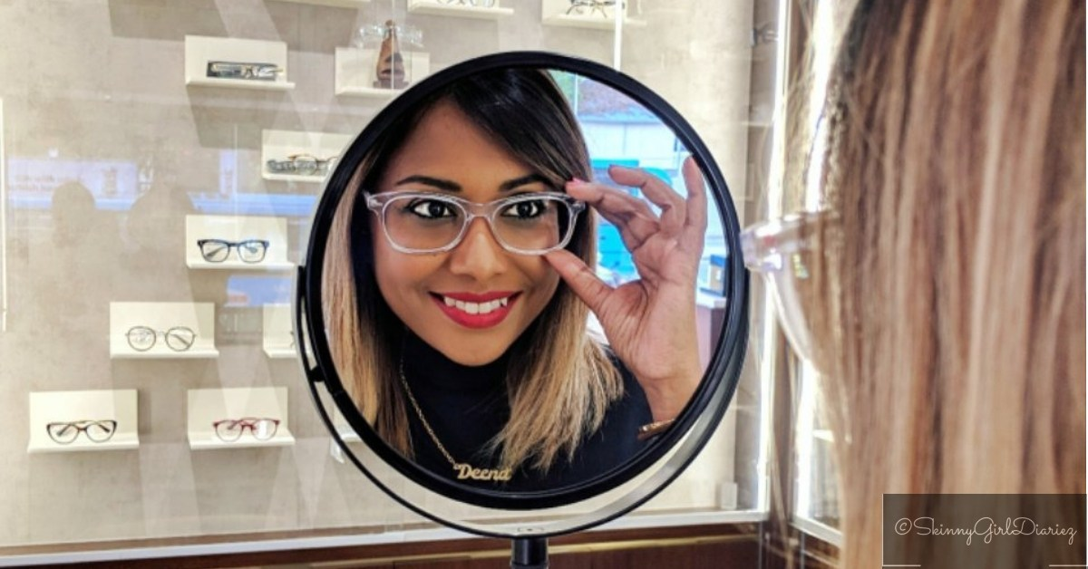 @skinnygirldiariez's cover photo for 'Clear Frame Glasses For the Win – 2019 Trend Alert'