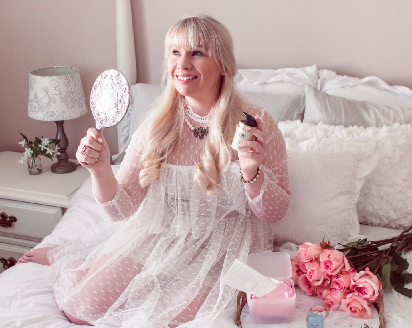 @lizzieinlace's cover photo for 'Olay 28 Day Challenge: Best Skincare Routine for the Working Woman | Lizzie In Lace'