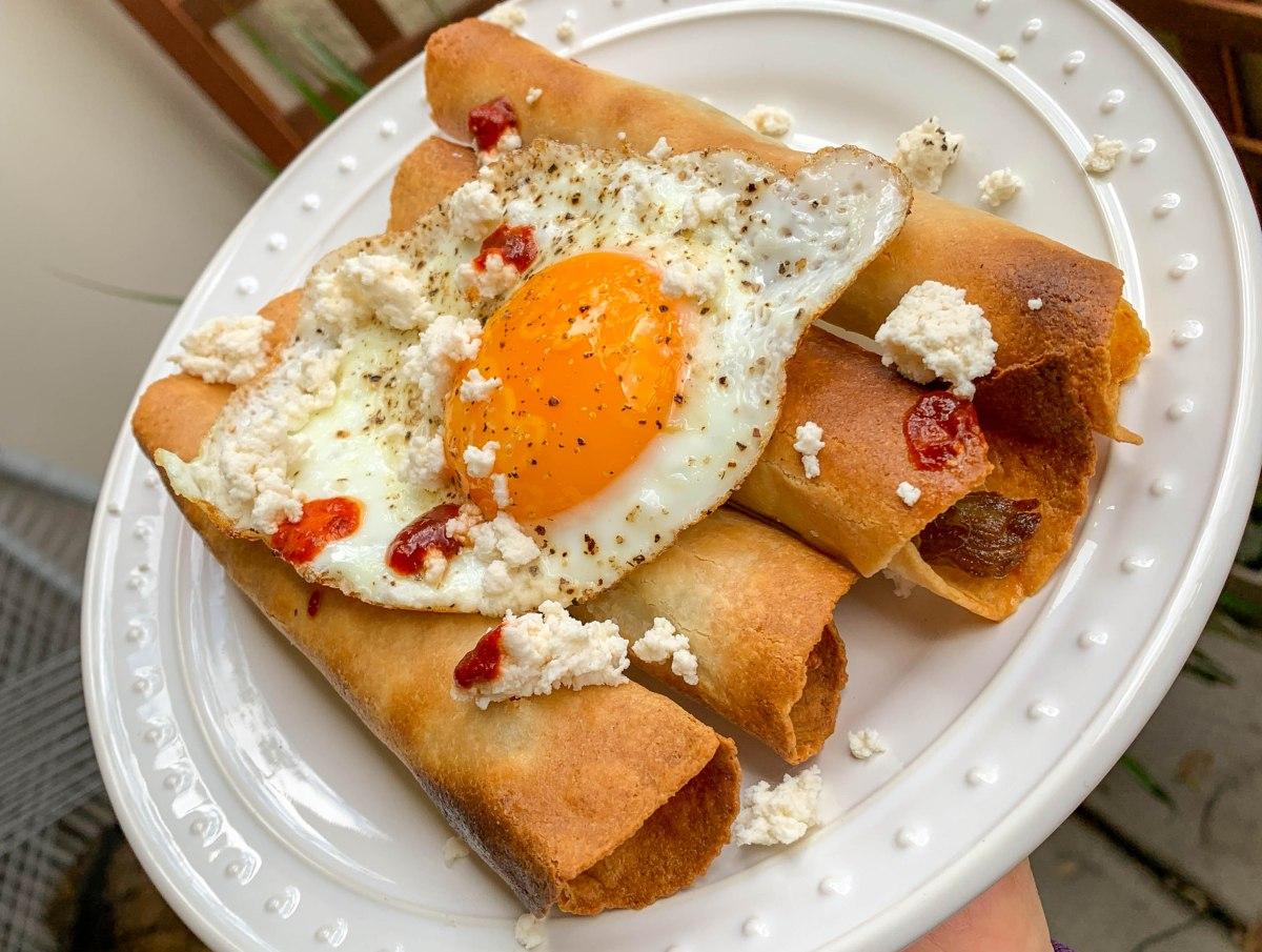 @thebaconprincessblog's cover photo for 'Air-Fried Paleo PorkTaquitos'