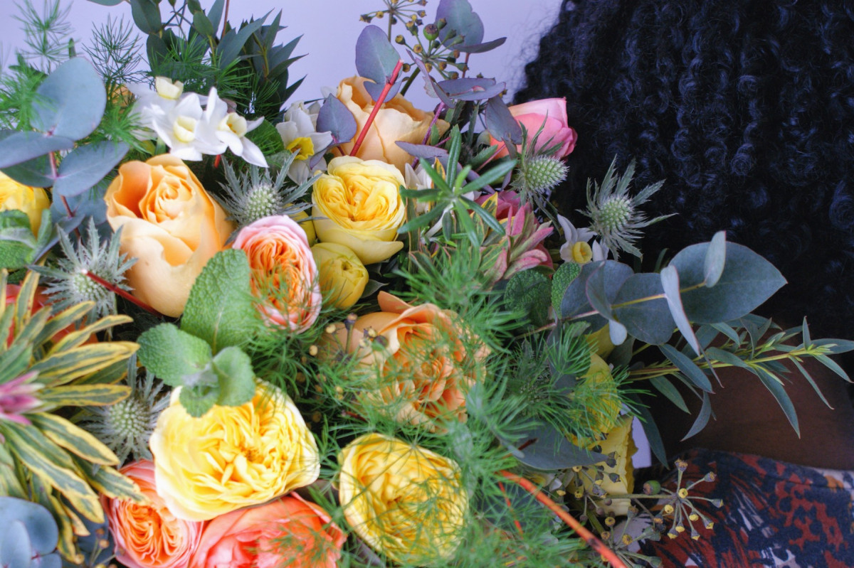 @wonderlustinglynda's cover photo for 'Stop and Smell The Flowers…from The Real Flower Company'