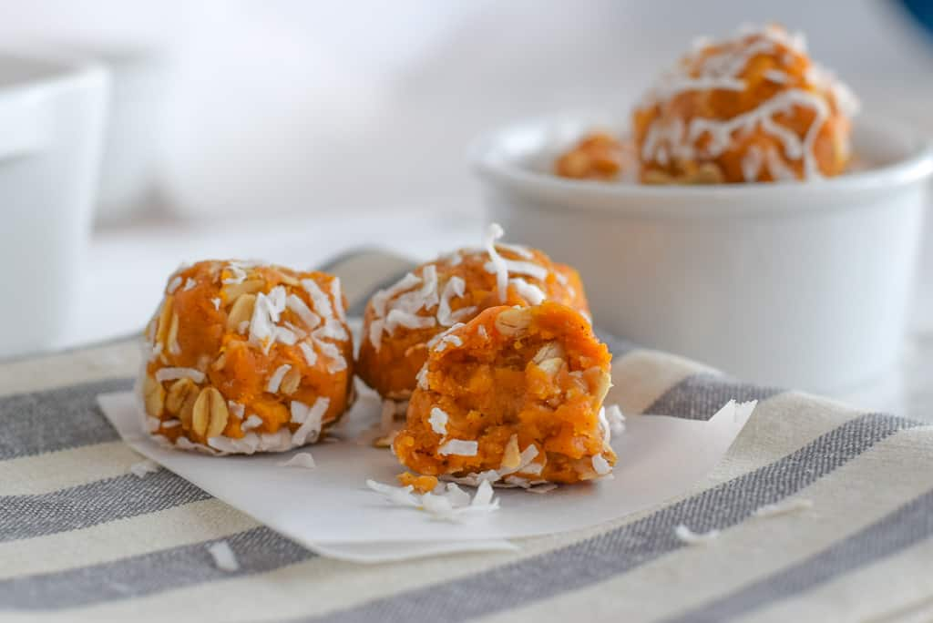 @bucketlisttummy_rd's cover photo for 'Pre-Run Sweet Potato Coconut Ginger Energy Bites + A Giveaway'