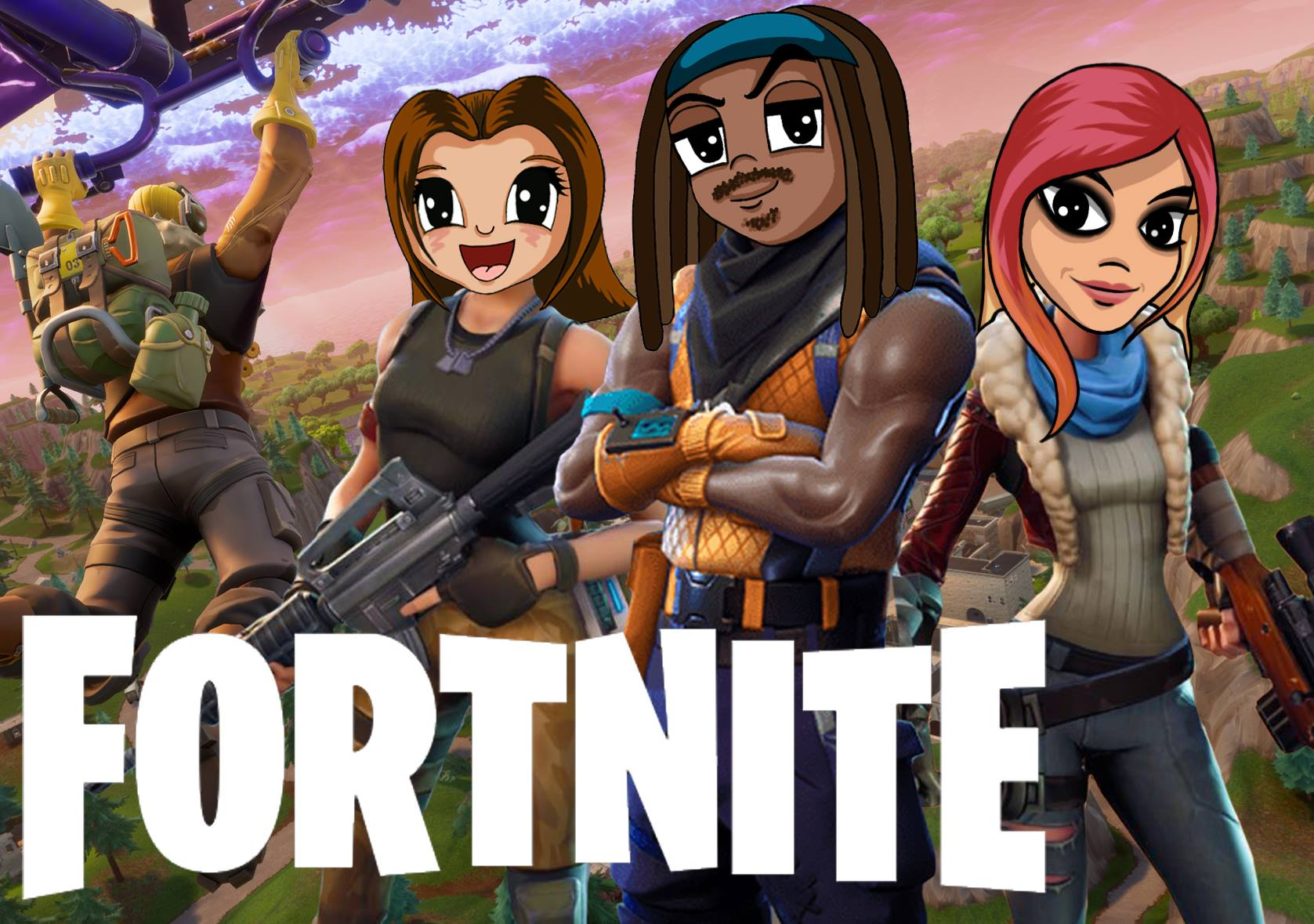 "@the_punk_rock_princess's cover photo for 'Playing ""Fornite"" With YouTube Gamers Troycy 