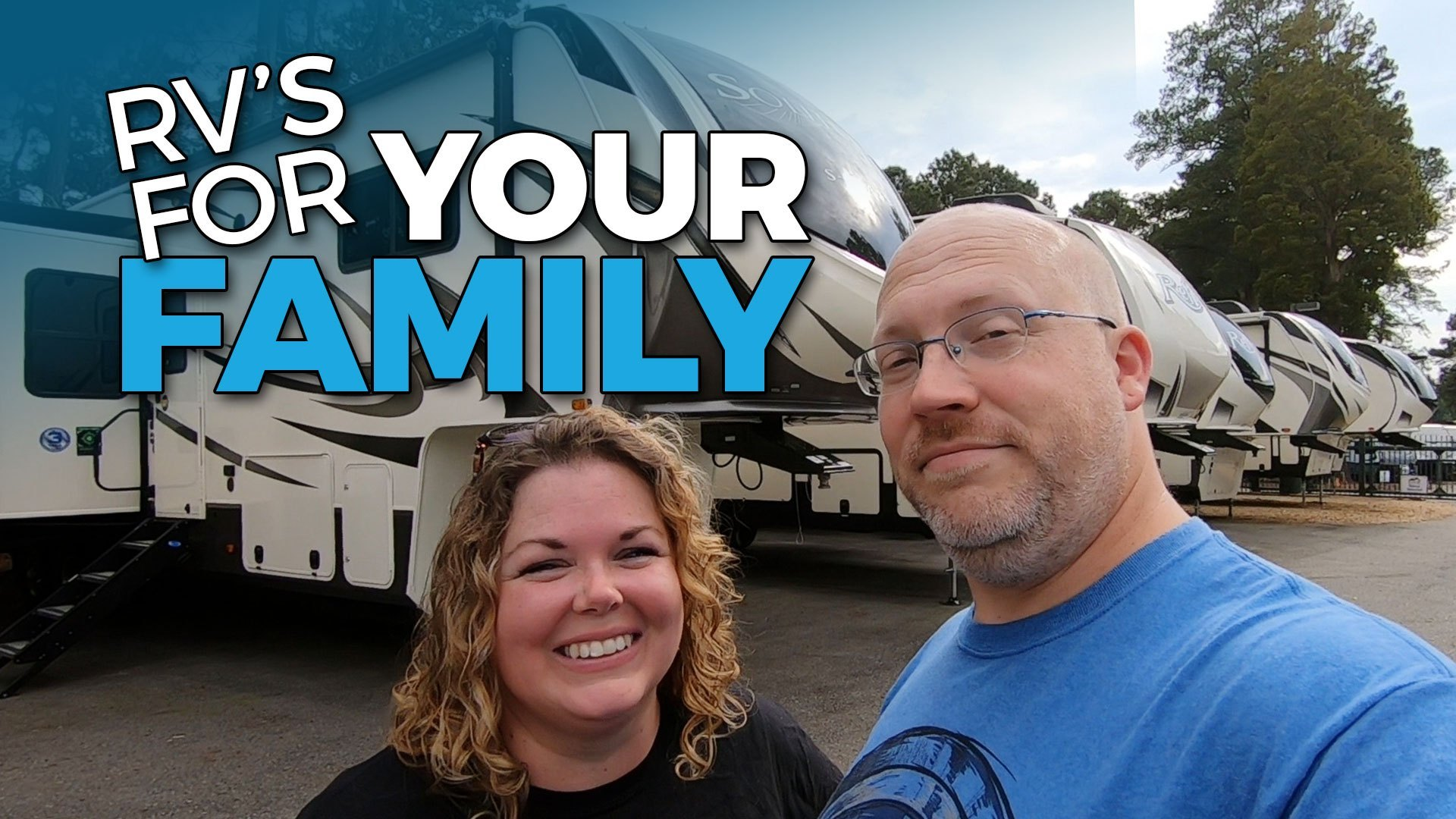 @five2gorv's cover photo for 'NEW Grand Design RV BUNK MODELS | Tour 9 Family RV's With Us! - Five2Go'