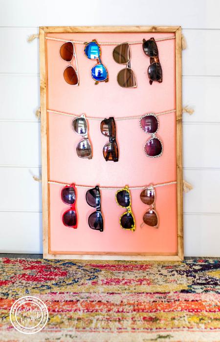 @neverskipbrunch's cover photo for 'Sunglass Holder — Easy DIY Wall Display » NEVER SKIP BRUNCH'