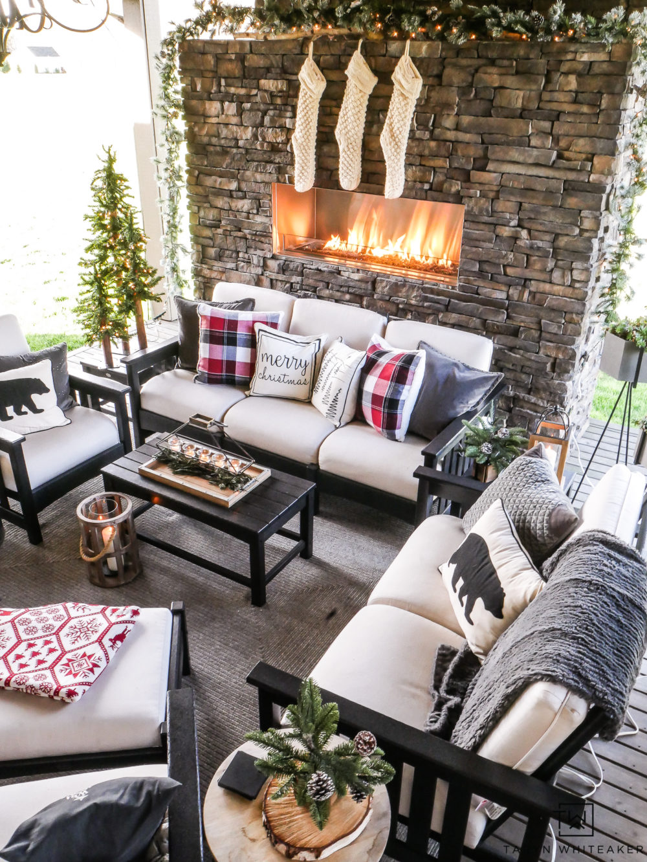 @tarynwhiteaker_designs's cover photo for 'Cozy Christmas Outdoor Living Space - Taryn Whiteaker'