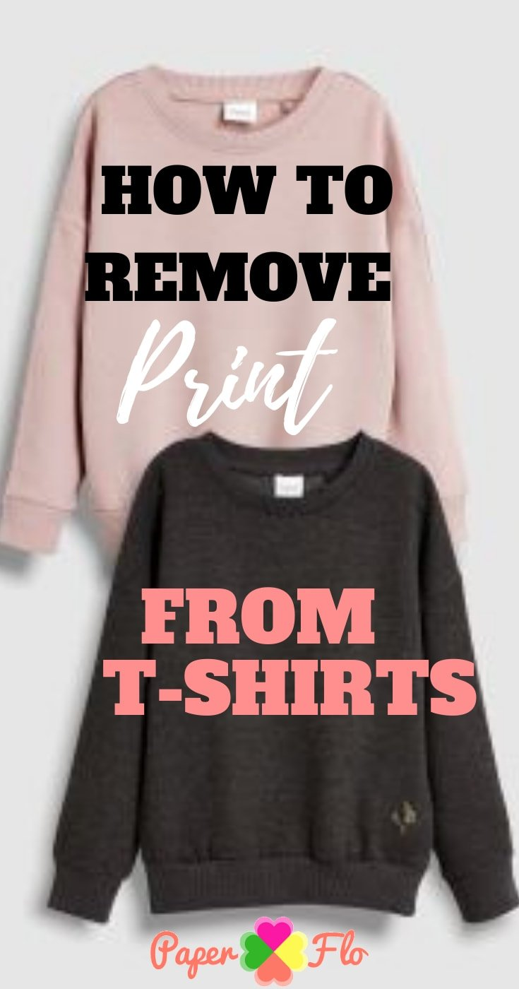 @paperflodesigns's cover photo for 'How to Remove Print From T-shirts - Paper Flo Designs'