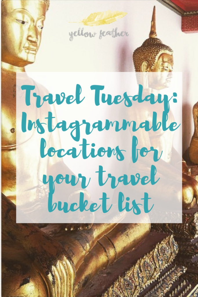 @sarah_walker2101's cover photo for 'Travel Tuesday: Instagrammable locations for your travel bucket list - Yellow Feather'