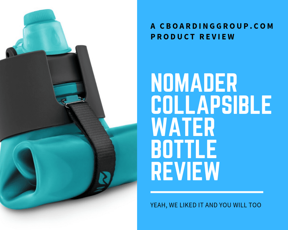 @cboardinggroup's cover photo for 'Nomader Collapsible Water Bottle Review - yeah, we liked it and you will too'