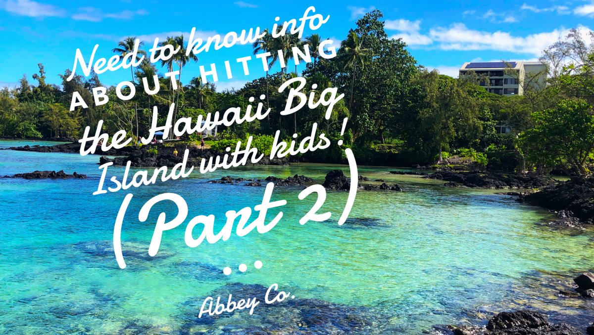 @abbeyco.seattle's cover photo for 'Doing the Hawaii Big Island the right way with kids! Part 2! Hilo, Puna, and back to Kona for departure'