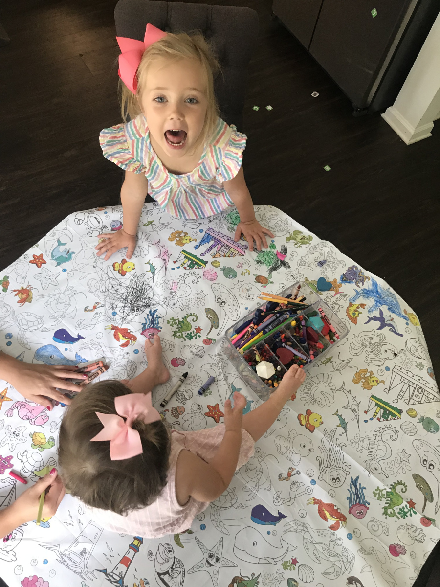 @wineatbedtime's cover photo for 'Busy Kids Activity: Coloring Tablecloth'