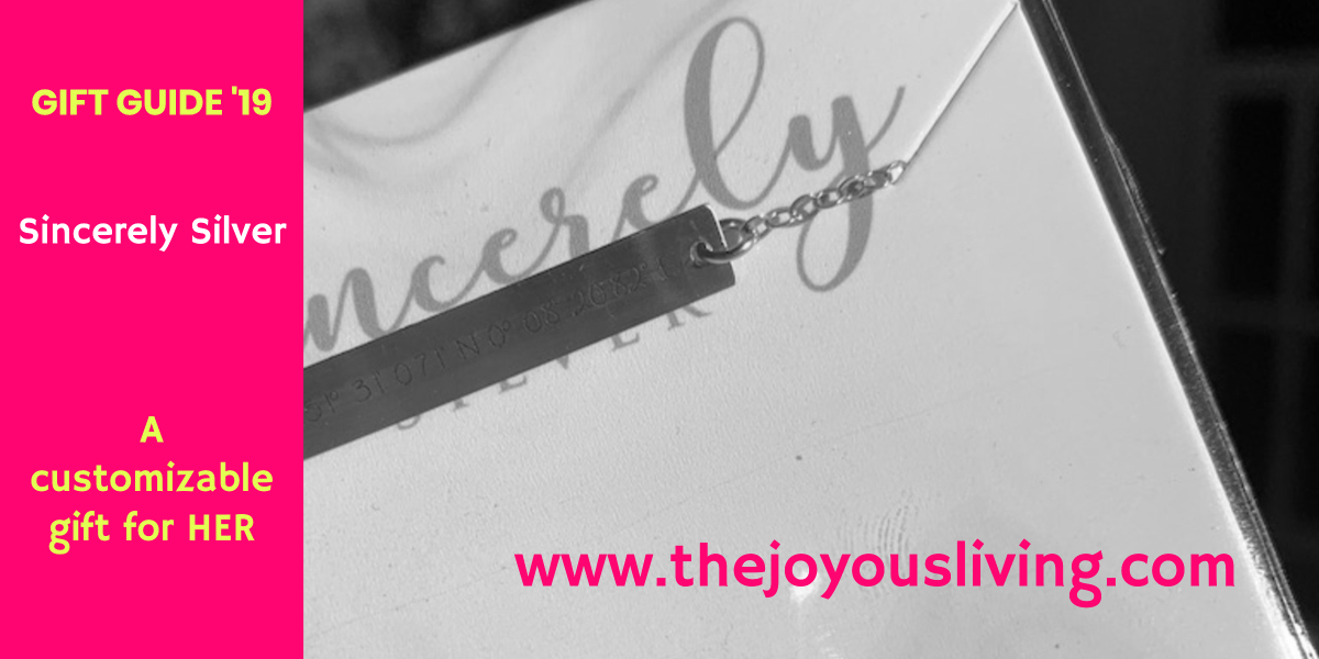 @thejoyousliving's cover photo for 'Gift Guide: Personalized Jewelry from Sincerely Silver'