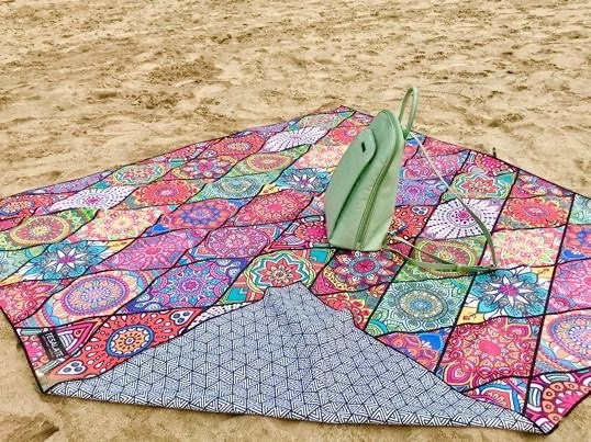 @duttapampi0's cover photo for 'Tesalate Beach Towel Review: Best Sand-Free Towel for Beach Lovers - World Up Close'