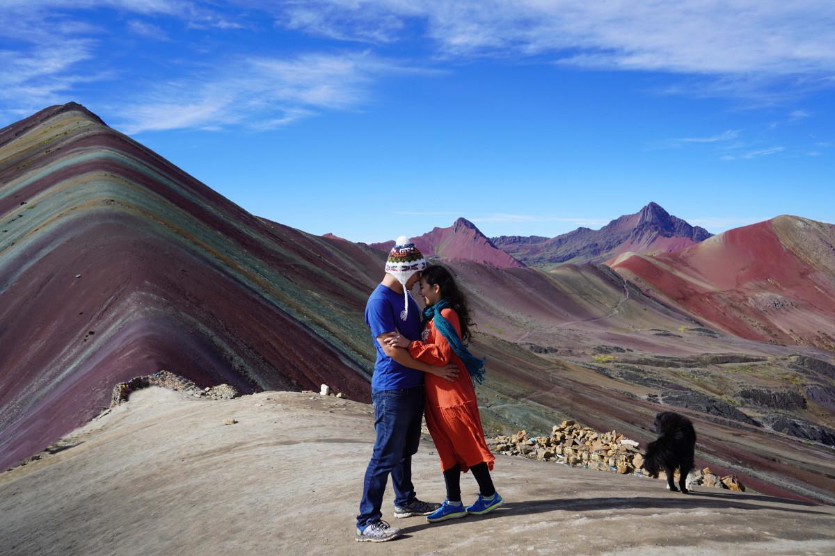 @chereneo's cover photo for 'Hiking Peru's Rainbow Mountain'