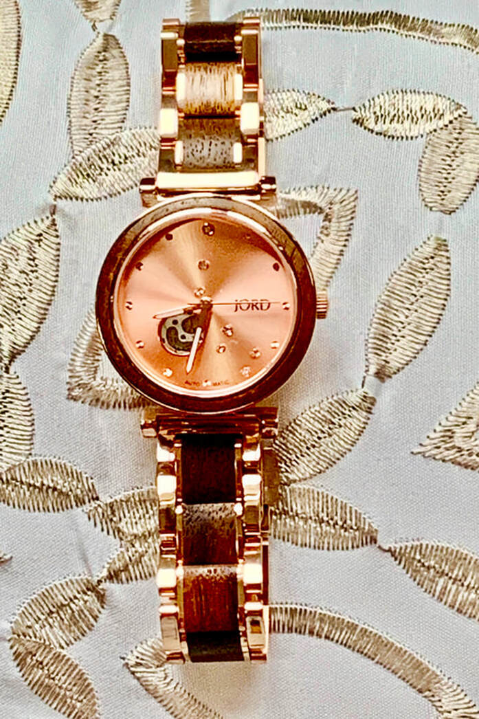 @whatsbakingbabycakes's cover photo for 'JORD Cora Polaris Natural Wood Watch Makes Me Tickled Pink this Valentine's Day'