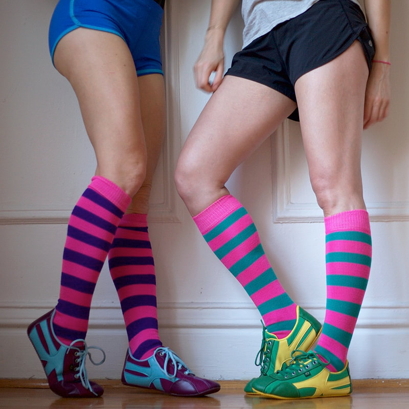 @whatsbakingbabycakes's cover photo for 'Chrissy's Sustainable Knee  High Socks Makes All Occasions More Fashionable'