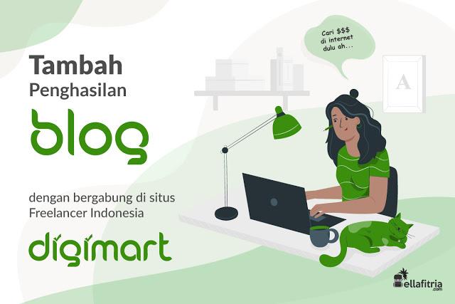 @delonixvanesta's cover photo for 'Ella Fitria: Tambah Penghasilan Ngeblog dengan Bergabung di Situs Freelancer Indonesia DigiMart'