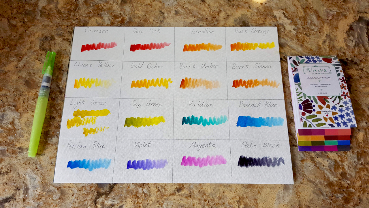 @briansloanart's cover photo for 'Viviva Colorsheets Product Review - Watercolor Paint with Ease - Brian Sloan Artist'