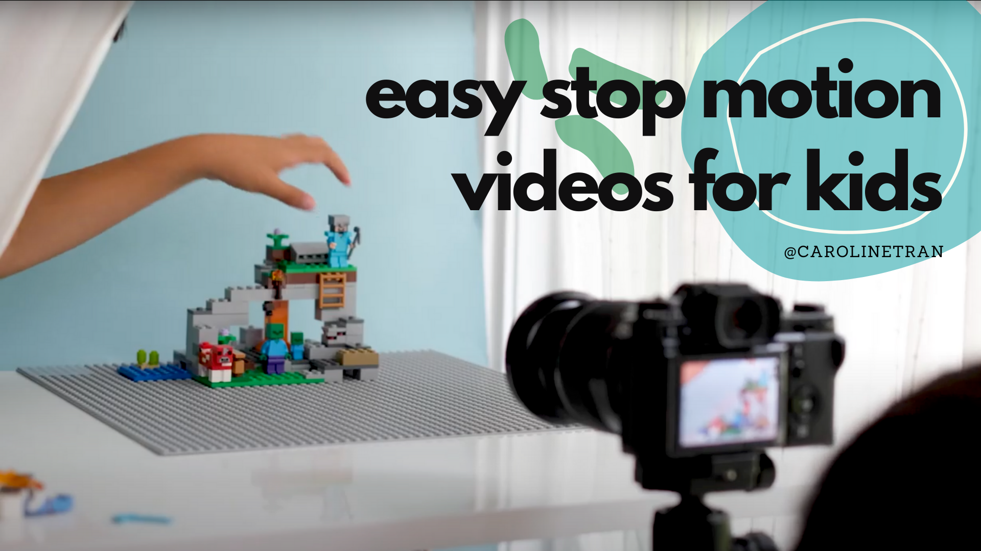 @carolinetran's cover photo for 'How to Create Easy Stop Motion Animation Photography with Kids - Caroline Tran | Los Angeles Wedding, Baby, & Branding Photographer'