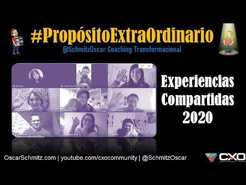 @schmitzoscar's cover photo for '#Taller Propósito ExtraOrdinario - Experiencias Compartidas 2020'