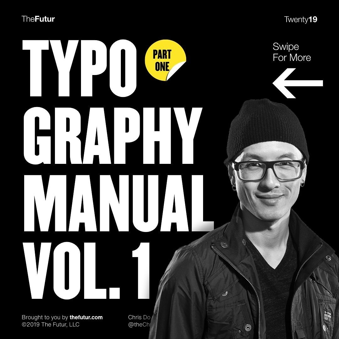 @hellotegra's cover photo for 'Typography Manual vol. 1 - Tegra - We create brands people love'