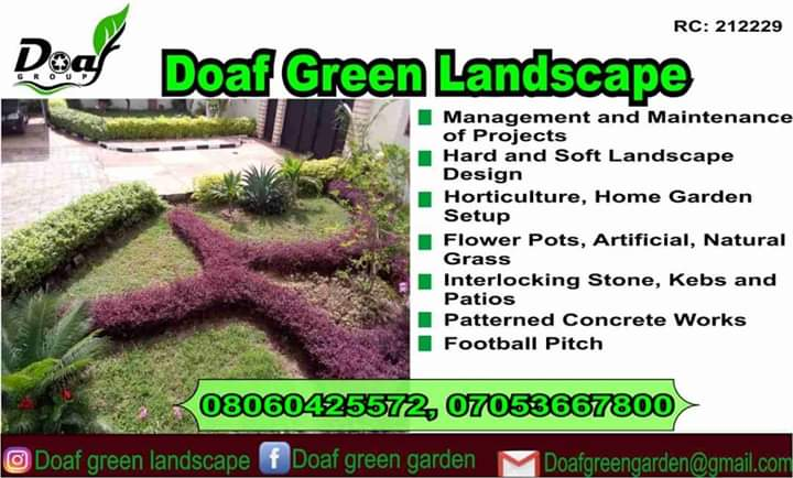@adewoyinferanmi's cover photo for '[Sponsored post] Doaf Green Landscape and horticulture'