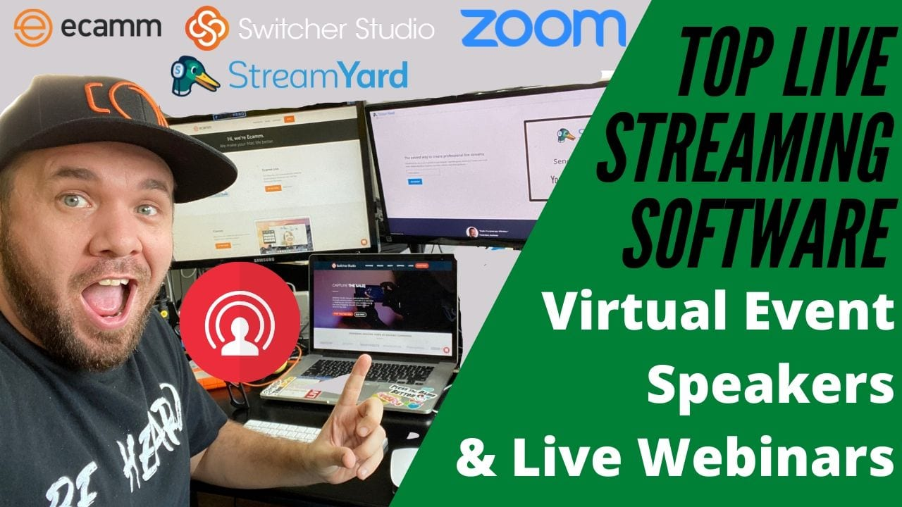 @isocialfanz's cover photo for 'Top Live Streaming Video Software for Virtual Event Speakers, Teachers and Webinar Presenters  '