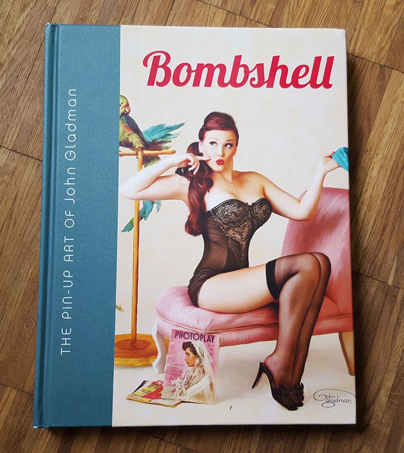 @digitalgirlies's cover photo for 'Bombshell – The Pin-Up Art of John Gladman'