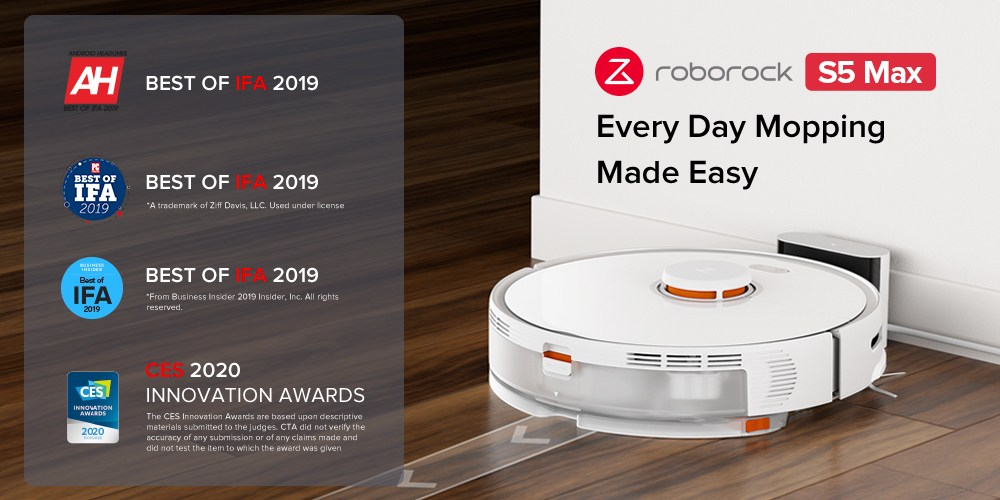 @tadeypremusic's cover photo for 'NEW DISCOUNT: Roborock S5 Max precise Wet and Dry Robot Vacuum Cleaner - Teddy's blog'