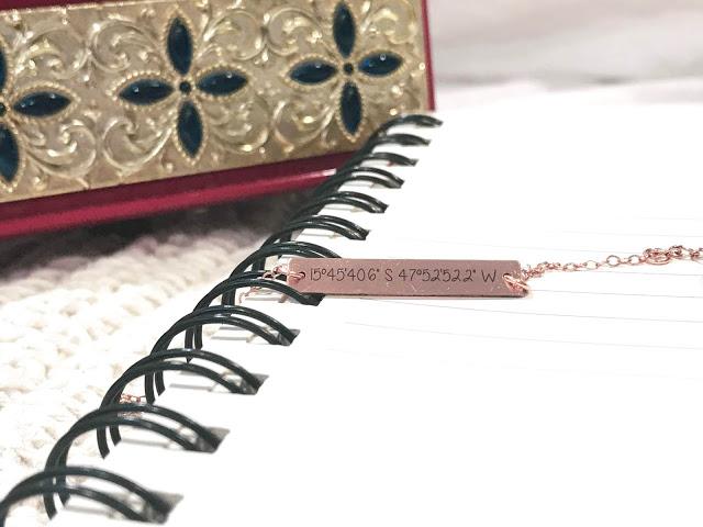@nicregiane's cover photo for 'NICA POR AÍ: Pulseira personalizada com coordenadas da Sincerely Silver'