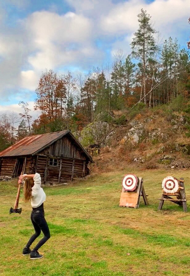 @talktothetan's cover photo for 'Axe throwing competition — Talk To The Tan'
