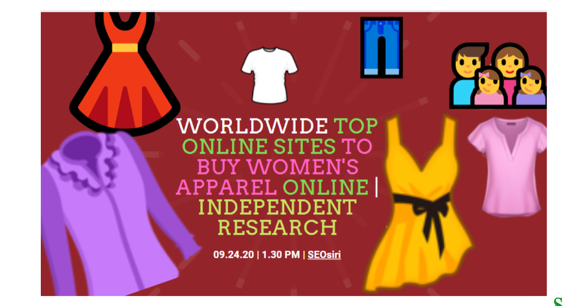 @momenulahmad's cover photo for 'Worldwide top online sites to buy women's apparel online | Independent Research'