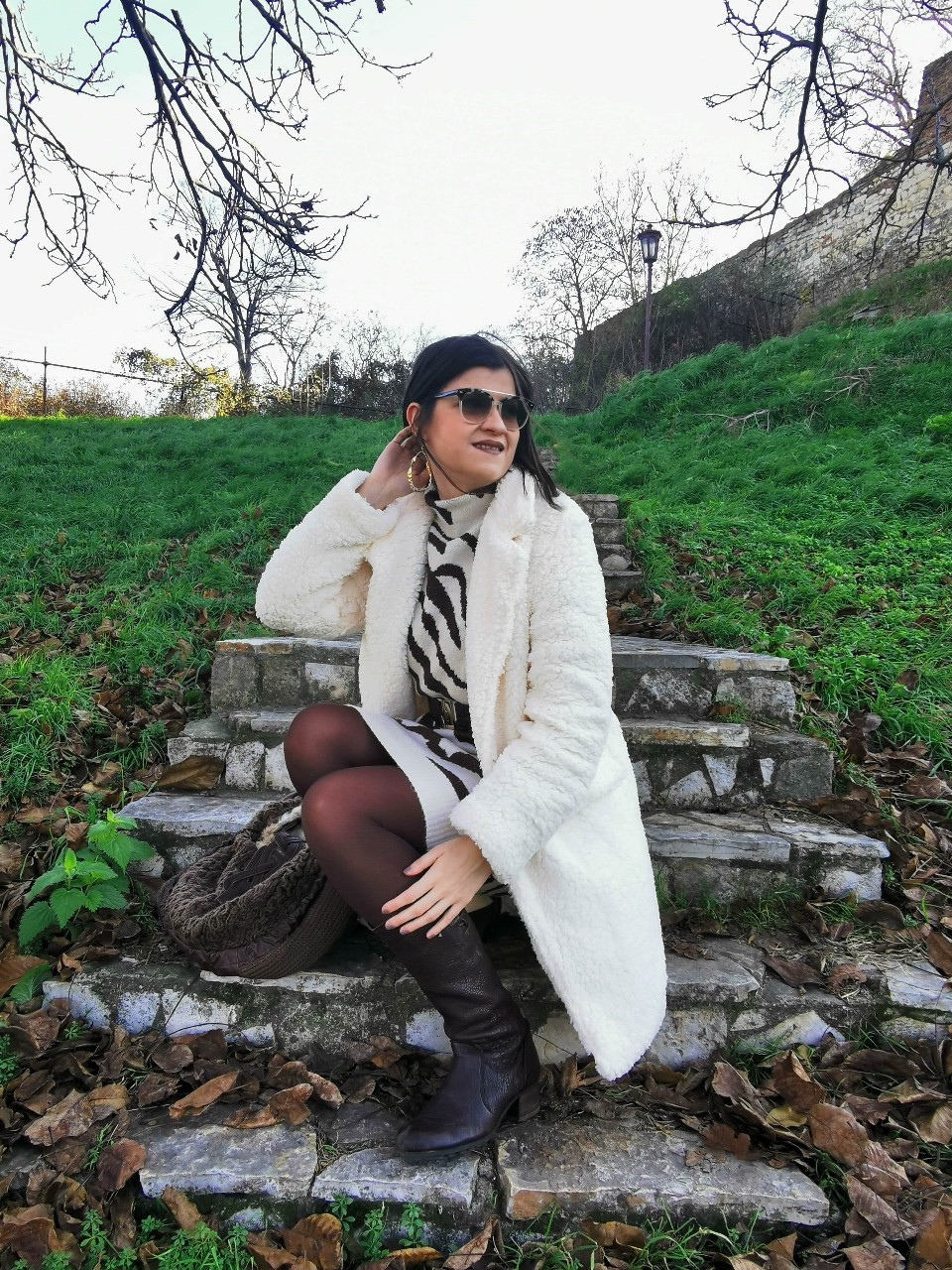 @bambolai's cover photo for 'Teddy Coat & Zebra Dress Outfit Idea - BambolaI %'