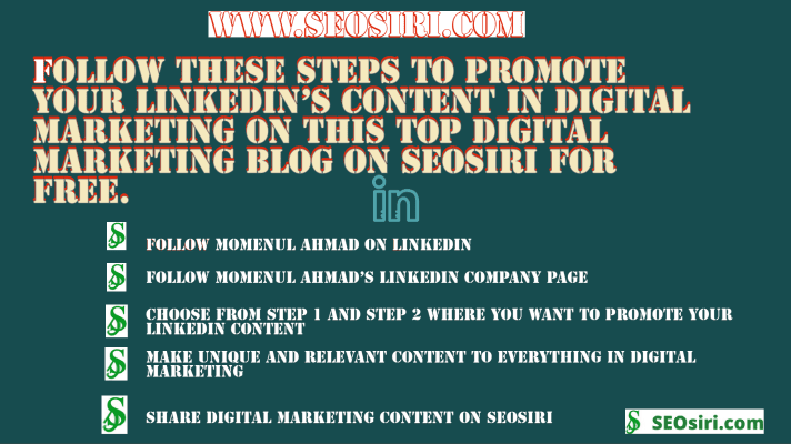 @momenulahmad's cover photo for 'How do I promote my LinkedIn's Digital Marketing Content on the top digital marketing blog?'