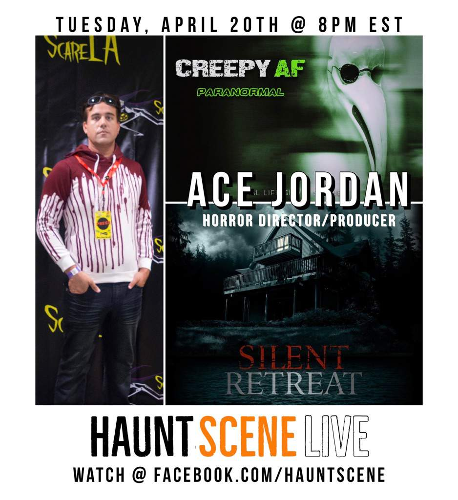 @creepyafshow's cover photo for 'Happy 4/20 👻💨 I'm Going to be on the Hauntscene podcast tonight! 🎙   Horror Amino'