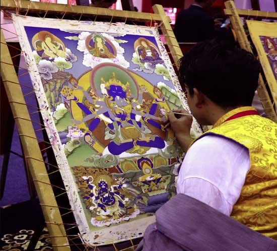 @tibetfocustravel's cover photo for 'Tibetan Thangka'