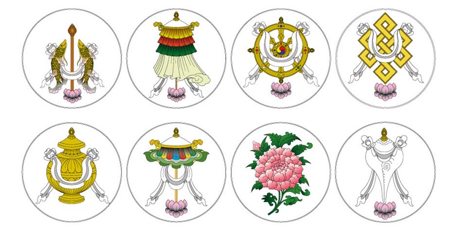 @itibettravel's cover photo for 'Eight Auspicious Symbols'