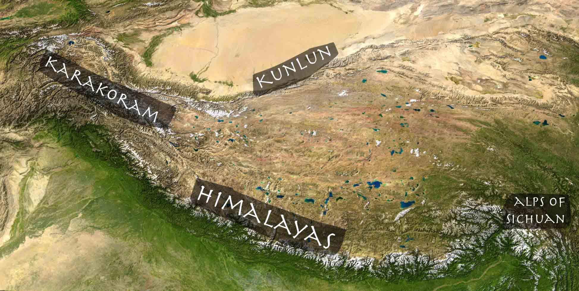 @nomadictibet's cover photo for 'Mountain ranges on Tibetan Plateau'